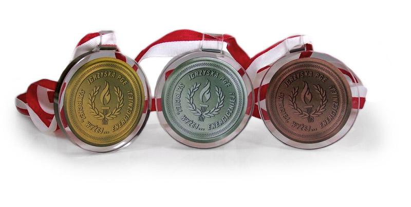 Medale szklane, szklany medal