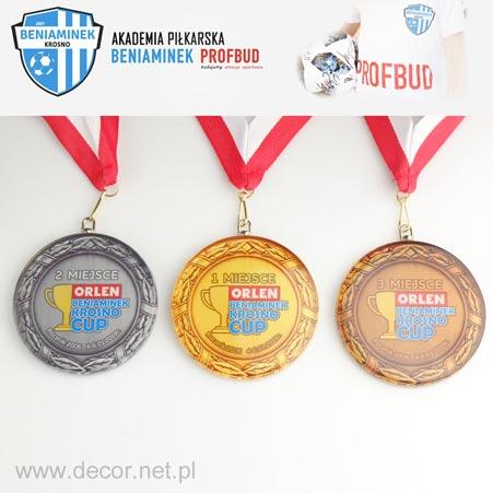 Medal szklany z nadrukiem